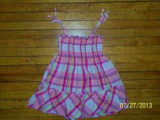 Baby Girls Cherokee Pink Plaid Summer Dress Sundress 12 Months