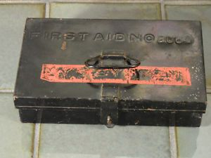 Vintage Railroad Conductor First Aid Kit Metal Box No 2064 NYC System NY Central