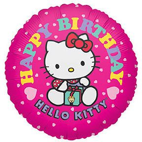 Hello Kitty Birthday Party Supplies Mylar Balloon