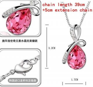 Fashion of Swarovski Crystal Pendant Necklace Options 4 Colur J1074