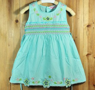 New Fashion Blue Sz 2 Years Cute Toddler Baby Girls Dress Kids Girl Clothing
