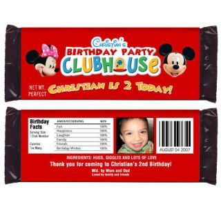 6 Mickey Minnie Mouse Birthday Party Candy Wrappers