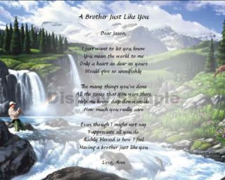Fishing Personalized Poem for Brother Keepsake Gift