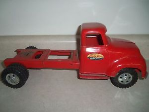 1956 Tonka Lumber Truck Long Frame Stake Flatbed Roll Off Vintage Toy
