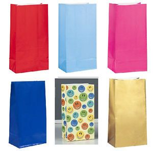 Paper Party Favor Bags Many Colors Birthday Baby Shower Supply Popcorn Treats