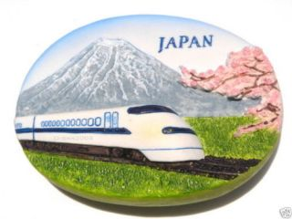 Shinkansen Bullet Train MT Fuji Japan Fridge Car Magnet
