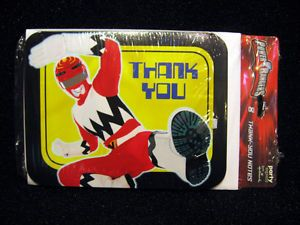 8 Power Rangers Birthday Thank You Cards Party Supplies Favors Decorations