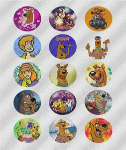 N349 Edible Image Birthday Decoration Cake Cookie Cupcake Toppers Scooby Doo