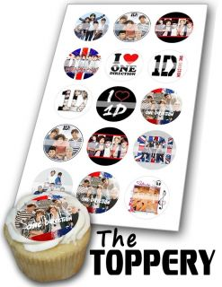 A117 Edible Image Birthday Decor Cake Cookie Cupcake Toppers 1D One Direction