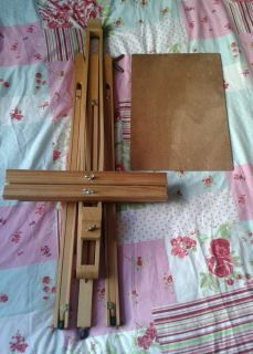 Solid Wood Artist Portable Full Size Easel Adjustable Tripod Legs and Board