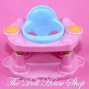 NEW EXERSAUCER BABY DOLL PINK WALKER FISHER PRICE LOVING FAMILY DOLLHOUSE