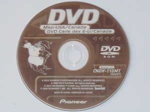 2012 Pioneer CNDV 110MT West Disc Navigation DVDs 2012 GPS Maps AVIC N D