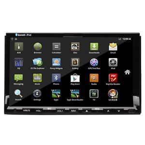 "Android 2 3 2 DIN in Dash Car DVD Player Head Unit GPS Nav 7"" Tablet PC 3G WiFi"
