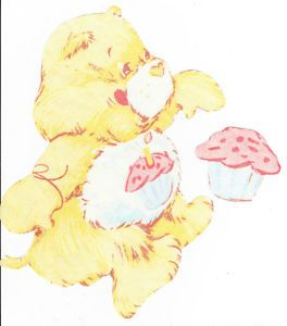 "7 5"" Vintage Birthday Care Bears Large Wall Safe Fabric Decal Set Cut Outs"