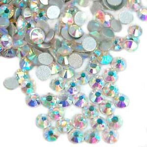 High Quality Crystal 6ss 20ss Flat Back No Hot Fix Crystal AB Rhinestones