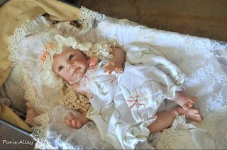 Sweet Biscotti French Lace Dress Hat Blanket 4 Reborn Baby Doll