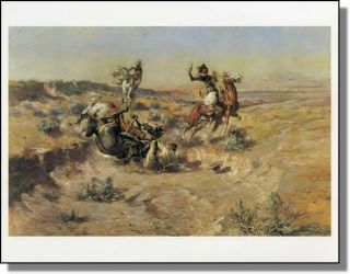 """The Broken Rope"" Charles M Russell Print Art"