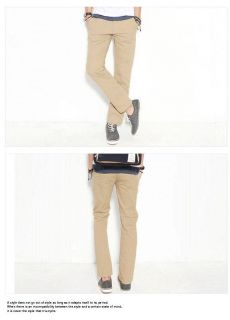 Top Men's Stylish Designed Straight Slim Fit Trousers Casual Pants N100