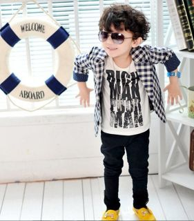 2013 Cool Kids Toddler Small Suit Korean Style Jacket Boys Coat Formal Clothes