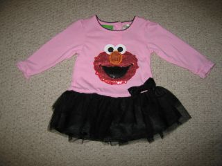 "New ""Sequin Elmo"" Dress Girls Fall Winter Clothes 18M Infant Sesame Street Baby"