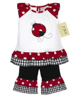 Polka Dot Ladybug Girls Clothing Baby Clothes 18M 24M