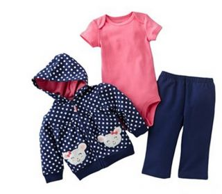 Carters Baby Girl Fall Winter Clothes 3 Piece Set Blue 3 6 9 12 18 24 Months