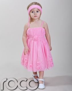 Baby Girls Pink Wedding Bridesmaid Prom Party Flower Girl Dress 1 14 Years