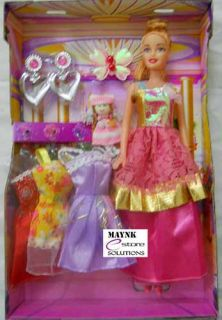 Doll 3 Dresses Set small baby infant girl kids toys for girls Gift Item Toys