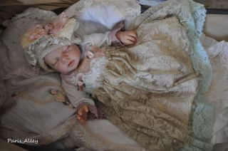Pure Bliss French Lace Dress Hat 4 Reborn Baby Doll