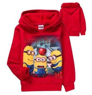 Baby Kids Boys Girls Despicable Me Minions Hoody Fleece Hoodie Coat 7 8years