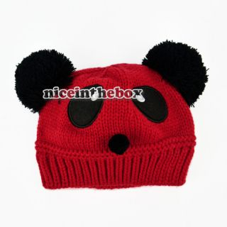 New Cute Baby Kids Girls Boys Stretchy Warm Winter Panda Cap Hat Beanie N98B