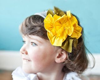Baby Girl Infant Toddler Cotton Flower Headband Headwear Hair Band Free Pattern