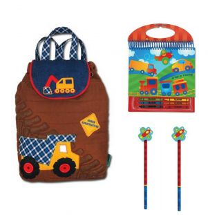 Stephen Joseph Kids Toddler Boys School Preschool Backpack Bag Notebook Set New