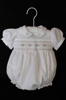 Beautiful Infant Baby Girl Clothes Friedknit Creations Romper w Embroidery 3 M