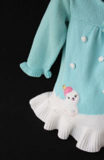Baby Toddler Girl Clothes Gymboree Playful Penguin Knit Sweater Dress 18 24 M