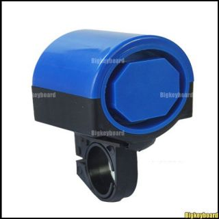 Blue Bicycle Bike Cycling Loud Electronic Bell Horn