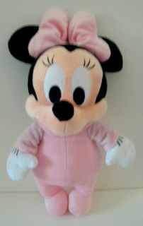 Disney Babies Pink Minnie Mouse Plush Baby Lovey Toy