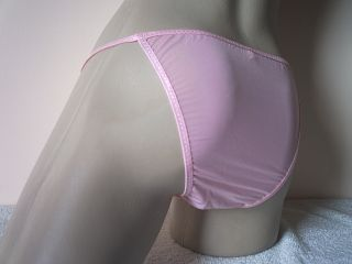 Men's Silky Baby Pink Micro String Bikini Brief Pouch Pants Knickers L XL