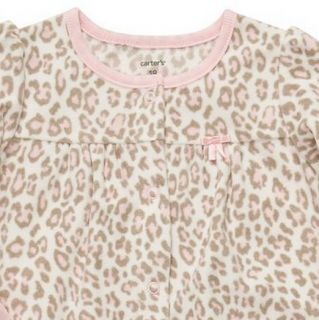 Carters Baby Girl Fall Winter Clothes Coverall Leopard 3 6 9 12 18 24 Months