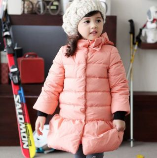 Pretty Kids Toddlers Girls Lovely Winter Warm Coats Clothing Outerwear AGES3 8Y
