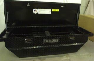 "Tradesman TALF568BLPBK Black 63"" Mid Size Low Profile Cross Bed Truck Tool Box"