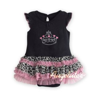 New Baby Girl Romper Jumpsuit Birthday Party Tutu Dresses Photo Prop Size 0 1 2
