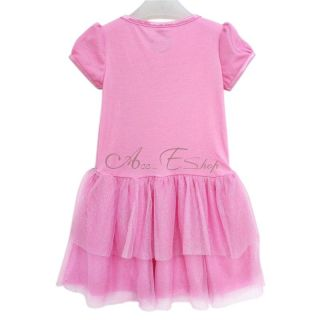 Pink Girl Princess Summer Clothing Party Dress Skirt Sparkle Tulle Sz 3 10