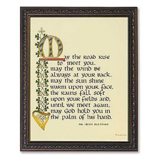May The Road Rise to Meet You Irish Blessing Glass Framed