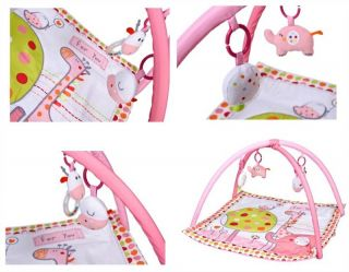 New Red Kite Hello Ernest Baby Play Gym Play Mat Activity Toy Pink