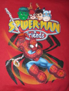 New Toddler Boys Spider Man Friends Red Hoodie Jacket Coat Size 2T