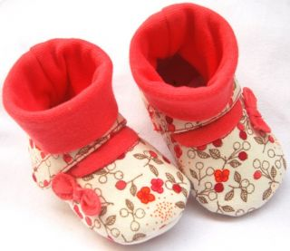 Red Mary Jane Toddler Baby Girl Booties UK Size 2 3 4
