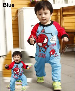 Spiderman Baby Kid Toddler Grow Onesie Bodysuit Romper Jumpsuit One Piece Outfit