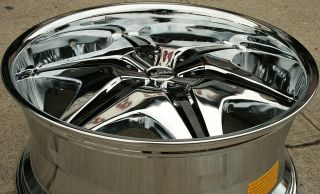 "Akuza Big Papi 712 22"" Chrome Rims Wheels Chevrolet Avalanche 02 Up"