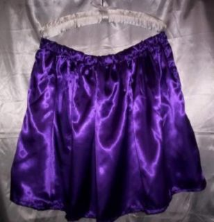 Custom Made Adult Sissy Womens Mens Flirty Fun Sexy Purple Satin Mini Skirt